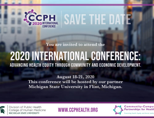 Announcing: 2020 International ConferenceonHealth EquityandEconomicDevelopmentinFlint